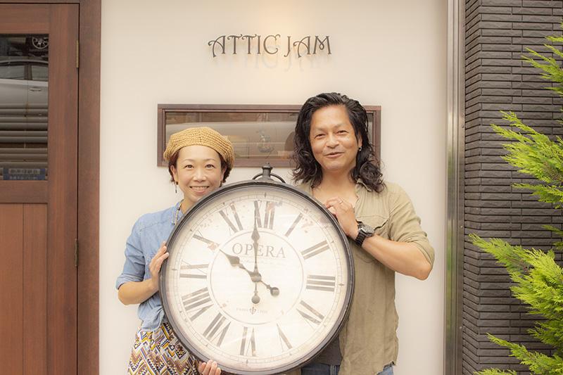 ATTIC JAMと有田夫妻